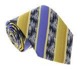 Missoni U3821 Gold/Purple/Navy Blue Regimental 100% Silk Ties at 43.80