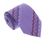 Missoni U4310 Purple Sharkskin 100% Silk Tie at 43.80