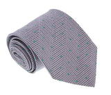 Missoni U4799 Lavender/Green Pin Dot 100% Silk Tie at 43.80