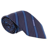 Missoni Multi Stripe Blue Woven 100% Silk Tie at 43.80