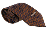 Missoni Grid  Brown Woven 100% Silk Tie at 43.80