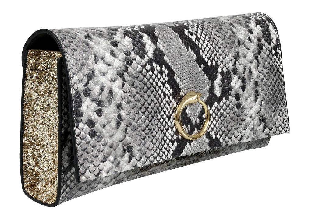 Roberto Cavalli HXLPDM 001 Grey Shoulder Bag at 234.28