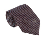 Roberto Cavalli ESZ020 02002 Bordeaux/Blue Micro Geometric Tie at 38.09
