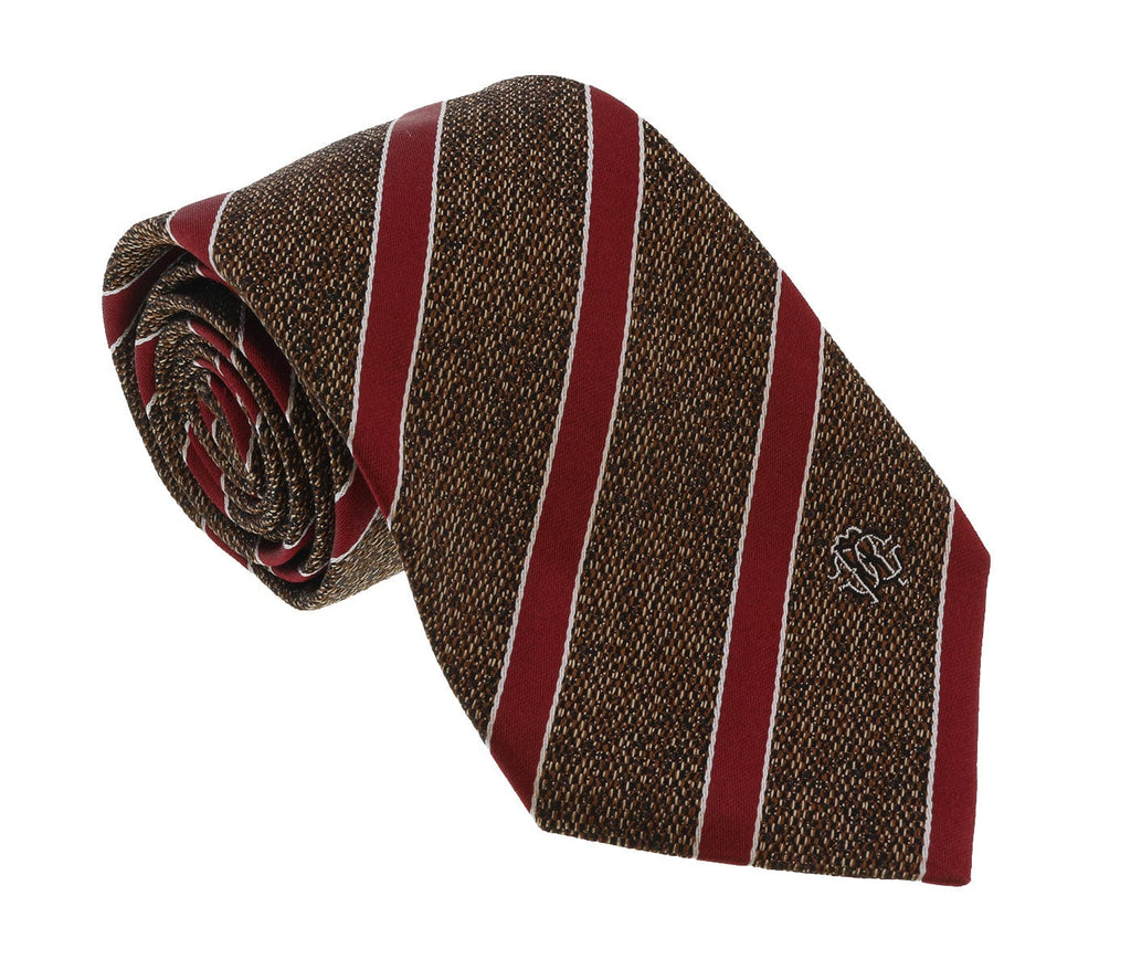 Roberto Cavalli ESZ038 03503 Brown Repp Tie at 38.09