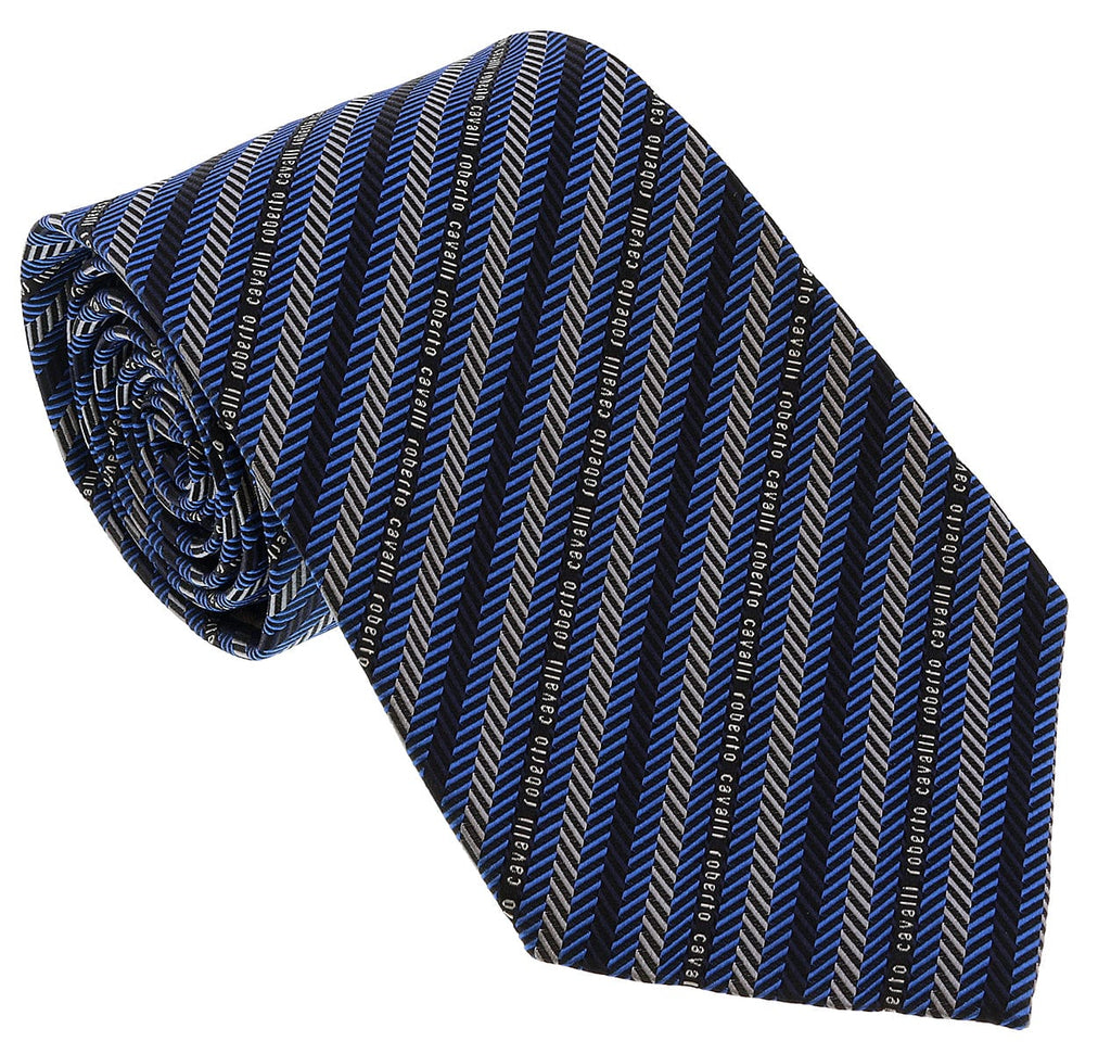 Roberto Cavalli ESZ041 05001 Grey Micro Geometric Tie at 38.09