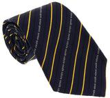 Roberto Cavalli ESZ042 D1564 Navy Blue/ Yellow Regimental Stripe Tie at 38.09