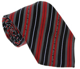 Roberto Cavalli ESZ047 02000 Red Regimental Stripe Tie at 38.09