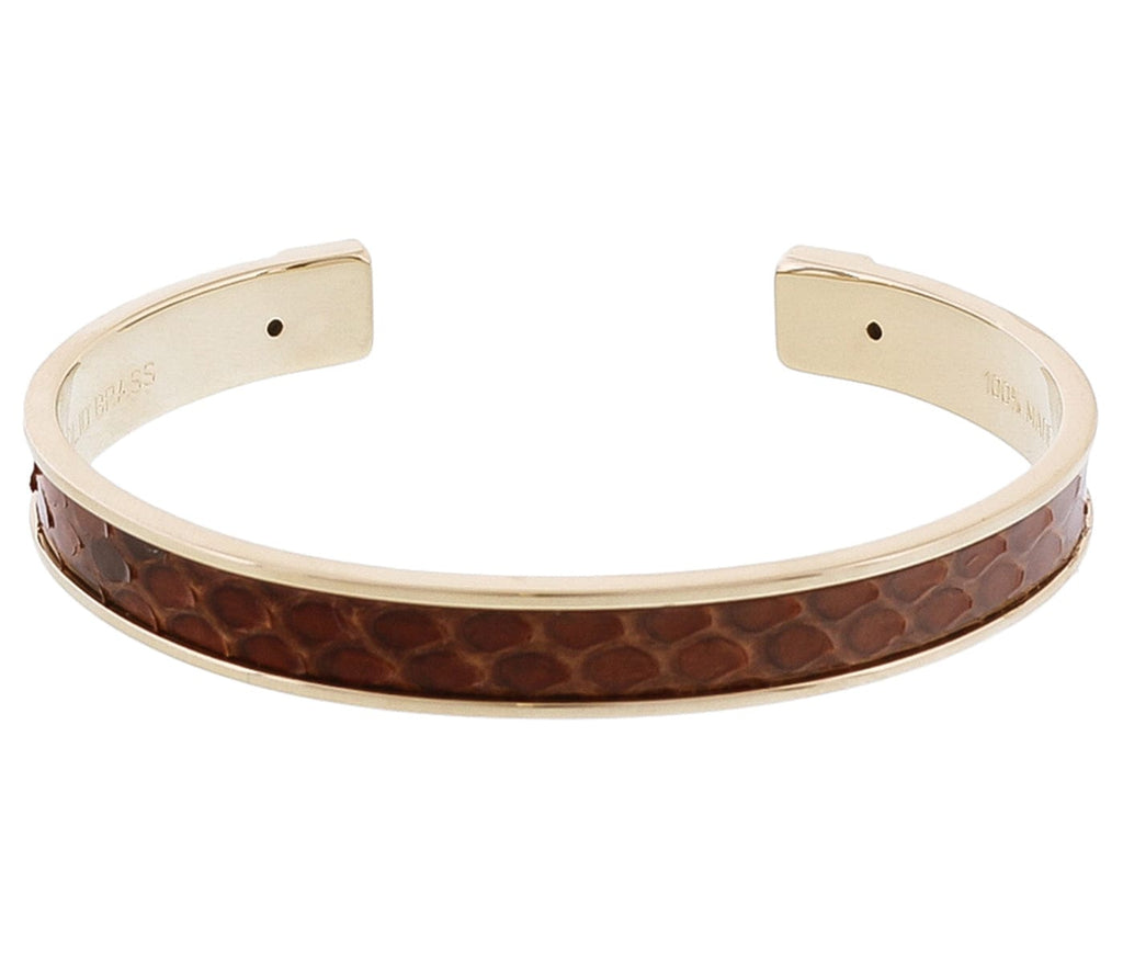 Stamerra PICCOLO PITTONE MR Dark Brown Genuine Python Bracelet
