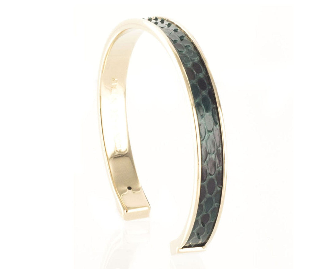 Stamerra  Forest Green Genuine Python Bracelet