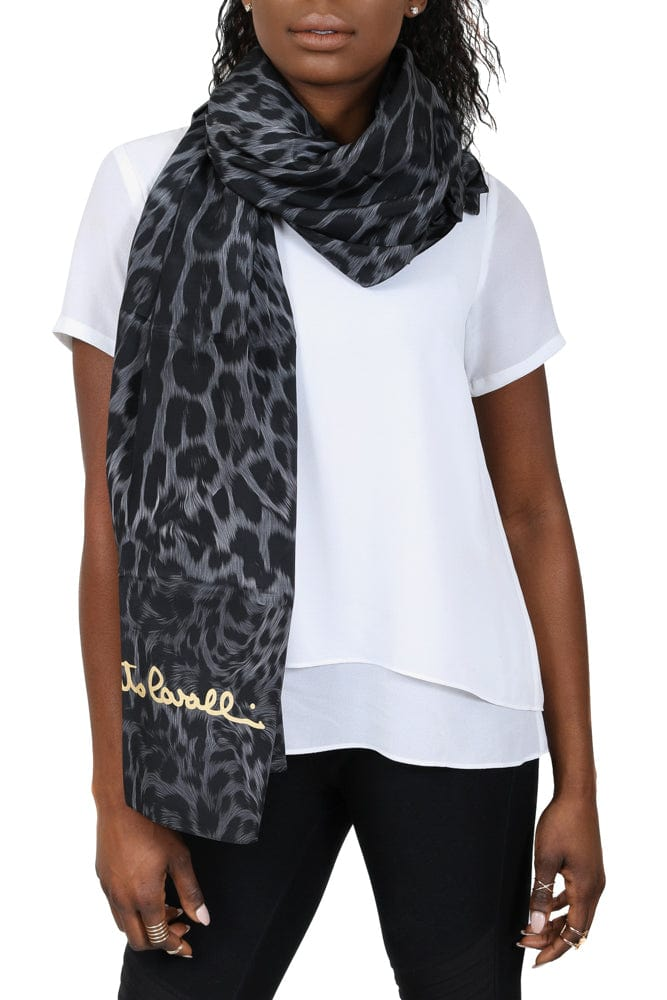 Roberto Cavalli C3S07D120 230 Gray Animal Print Shawl at 53.32