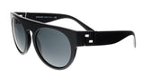 Versace VE4333 523287 Black Round Greca Sunglasses