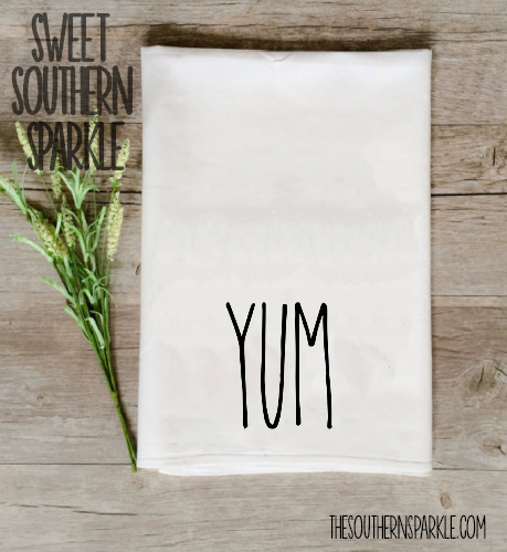 Rae Dunn Kitchen Towel Yum