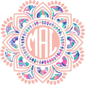 Two Color Lilly Inspired Mandala Decal - Sweet Southern Sparkle