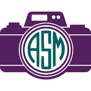 Personalized Monogram Camera Vinyl Decal