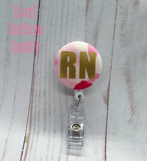 Solid Color Lilly Inspired RN Badge Reel