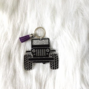 Jeep Keychain - Sweet Southern Sparkle