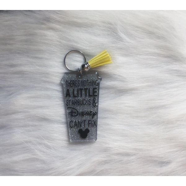 Disney and Starbucks Keychain - Sweet Southern Sparkle