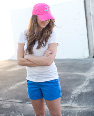 Monogram Cotton Blend Cap