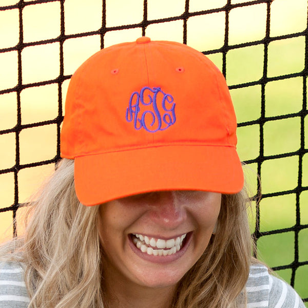 Orange Game Day Cap|Sport Hat|Accessories|Monogram