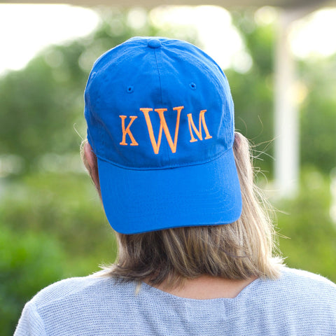 Royal Blue Game Day Cap|Sport Hat|Accessories|Monogram