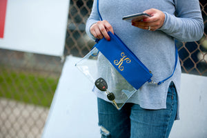 Blue Stadium Purse