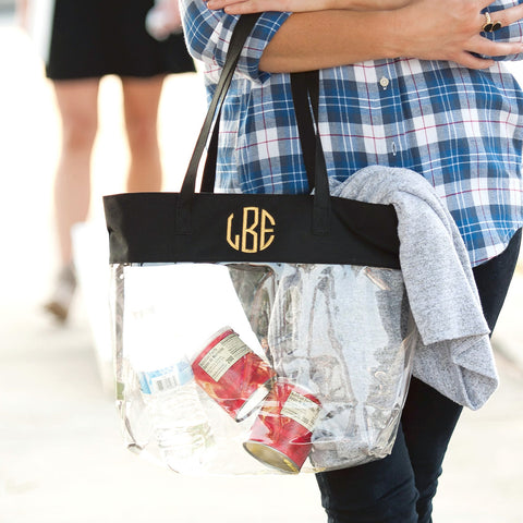 Black Stadium Tote - Sweet Southern Sparkle