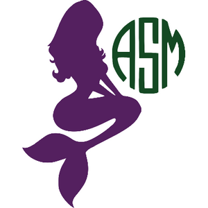 Mermaid Monogram Decal