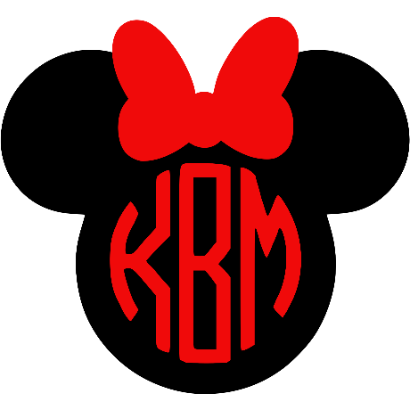 Minnie Monogram Decal