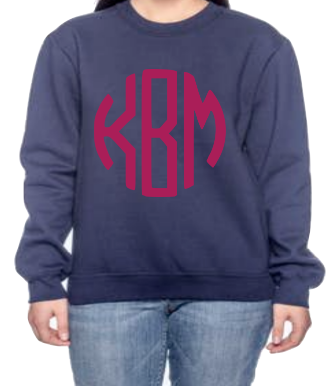 Long Sleeve Monogram Sweatshirt