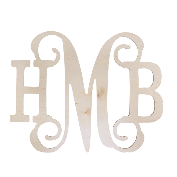 Vine Style Monogram Wood Decor