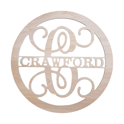 Circle - In Name Wood Monogram