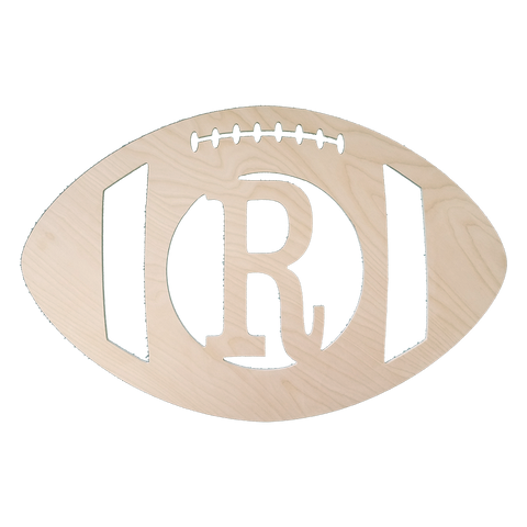 Football Single Initial Wood Monogram Decor