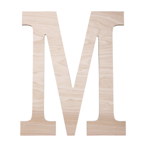 Classic Single Letter Wood Monogram - 2 sizes - Sweet Southern Sparkle