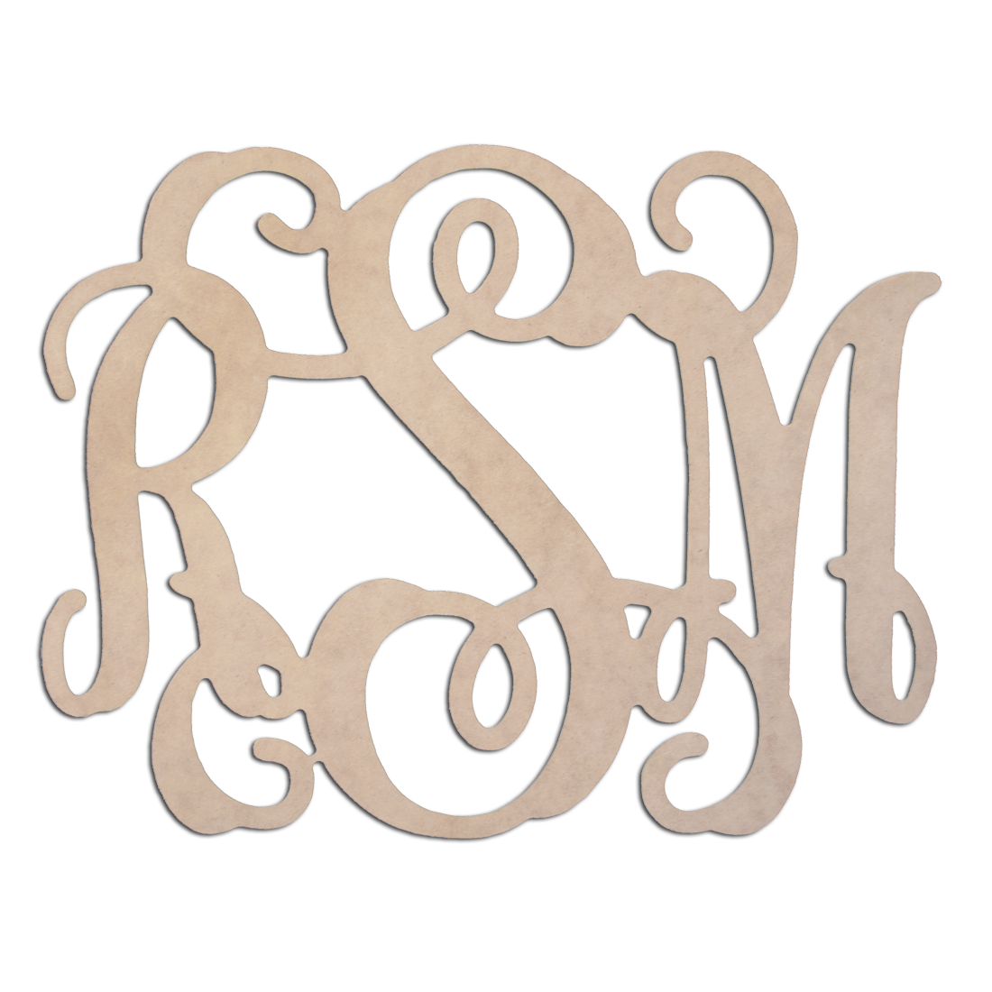 Interlock Wood Monogram - Customize with your monogram