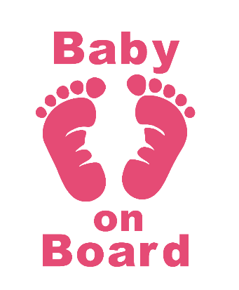 Baby On Board Feet Decal - Sweet Southern Sparkle