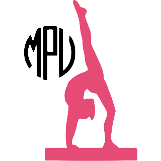 Gymnast Monogram Decal