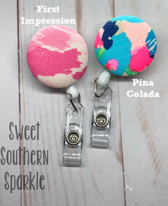 Lilly Pulitzer Inspired Monogram Badge Reel