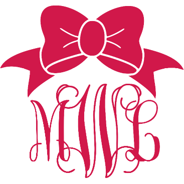 Monogram Bow Decal