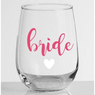 Stemless Wineglass Bridal Party - Sweet Southern Sparkle