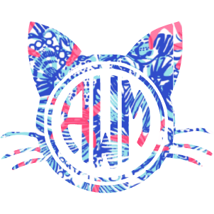 Lilly Monogram Cat Decal - Sweet Southern Sparkle