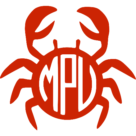 Crab Monogram Decal