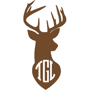Monogram Deer Decal - Sweet Southern Sparkle