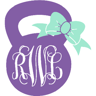 Monogram Kettle Ball Decal - Sweet Southern Sparkle