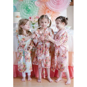 Flower Girl Cotton Floral Robe - Sweet Southern Sparkle