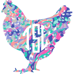 Monogram Chicken Decal - Sweet Southern Sparkle