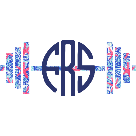 Lilly Inspired Barbell Monogram Decal - Sweet Southern Sparkle