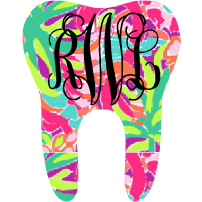 Lilly Monogram Tooth Decal - Sweet Southern Sparkle