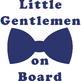 Little Gentlemen on Board Car Decal - Sweet Southern Sparkle