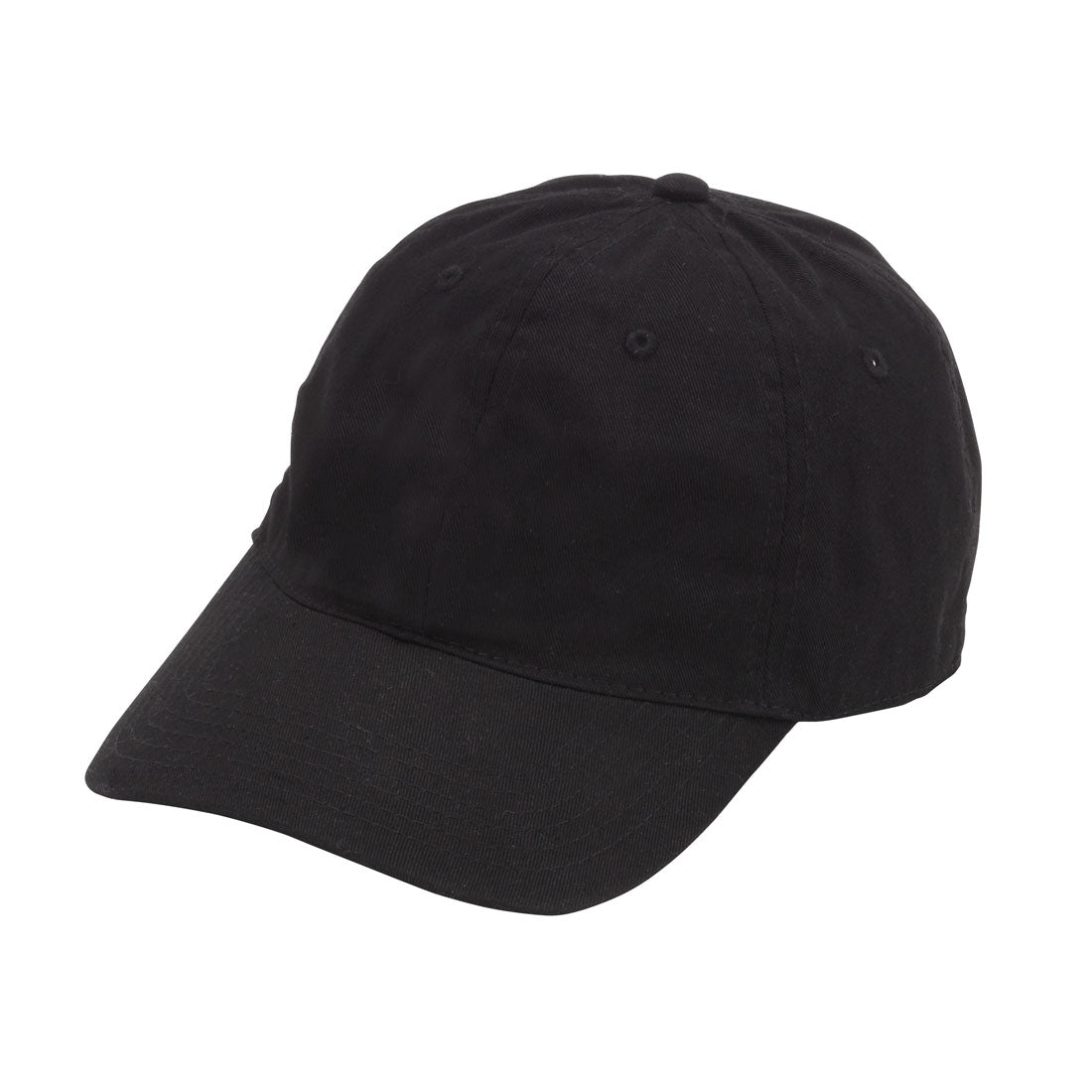 Black Monogram Cotton Blend Cap