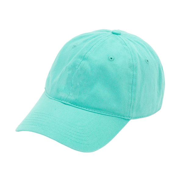 Teal Monogram Cotton Blend Cap